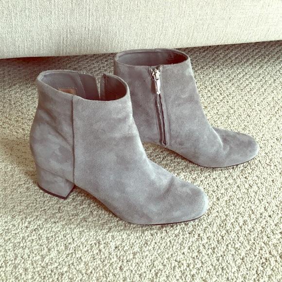 e1098f4d1a3d Sam Edelman Taye Suede light grey ankle Boots. M 5a5e3175a6e3ea39d6cc5ed5